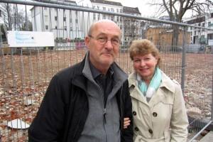 Ehepaar Schierhorn wohnt gegenüber von der Baustelle