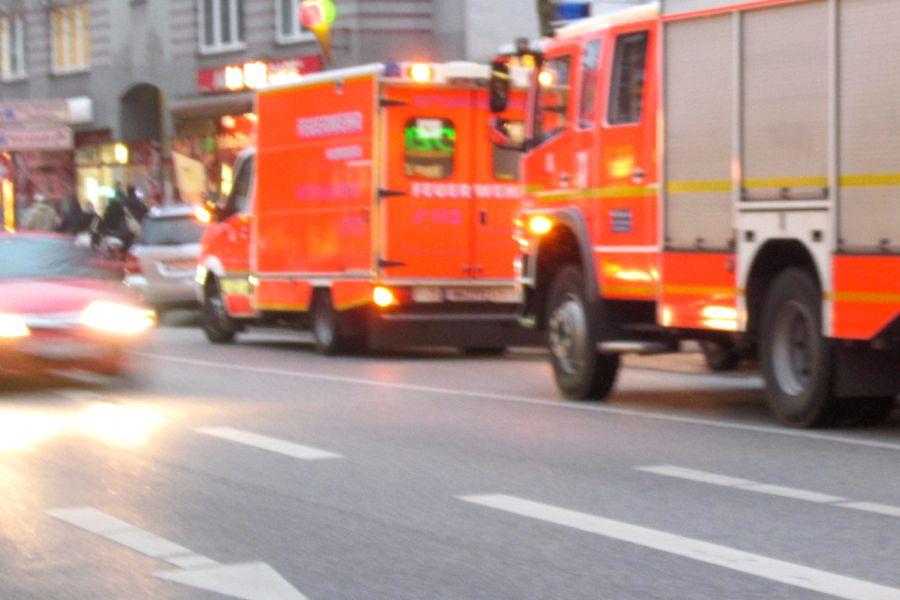 Brand eines Lieferwagens in Eppendorf