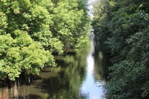 Der Isebekkanal, lädt zum Bootfahren oder entspannen ein. Am Kaiser-Friedrich-Ufer ist zudem extra viel Platz zum Grillen.Foto: Ada von der Decken
