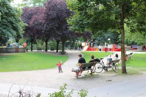 Ein Spielplatz in Eimsbüttel. Foto: Ada von der Decken