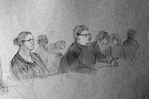 Viele Beschlüsse traf die Bezirksversammlung einstimmig. Zeichnung: Christine Klein
