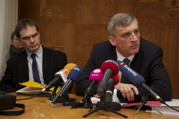 Die Pressekonferenz war kurzfristig angesetzt worden. Foto: Ada von der Decken