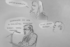 Heiß diskutiert: Hamburger Gefahrengebiete, Illustration: Christine Klein