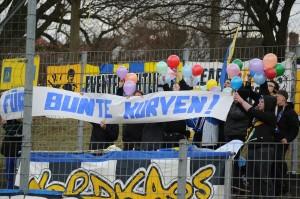 Die Fans beider Seiten waren lautstark dabei. Foto: Tim Eckhardt