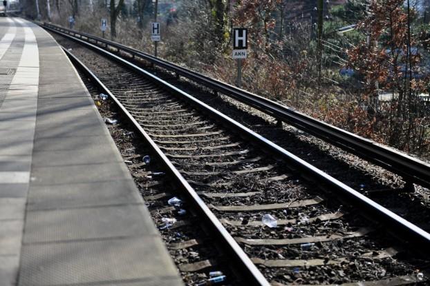 Der Mann stürzte auf die Gleise. Foto: Tim Eckhardt