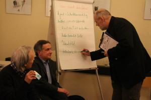 Moderator Stefan Wolfschütz sammelte Denkanstöße. Foto: Nora Helbling