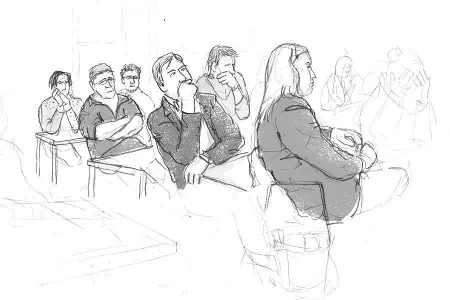 Bezirksversammlung Eimsbüttel, 28.02.2014, Illustration: Christine Klein
