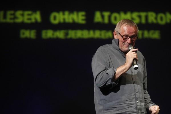 """Auftakt zu """"Lesen ohne Atomstrom"""" mit Konstantin Wecker. Foto Friedemann Simon"""