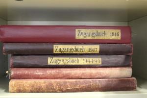 Die Zugangsbücher. Foto: Simon Karger