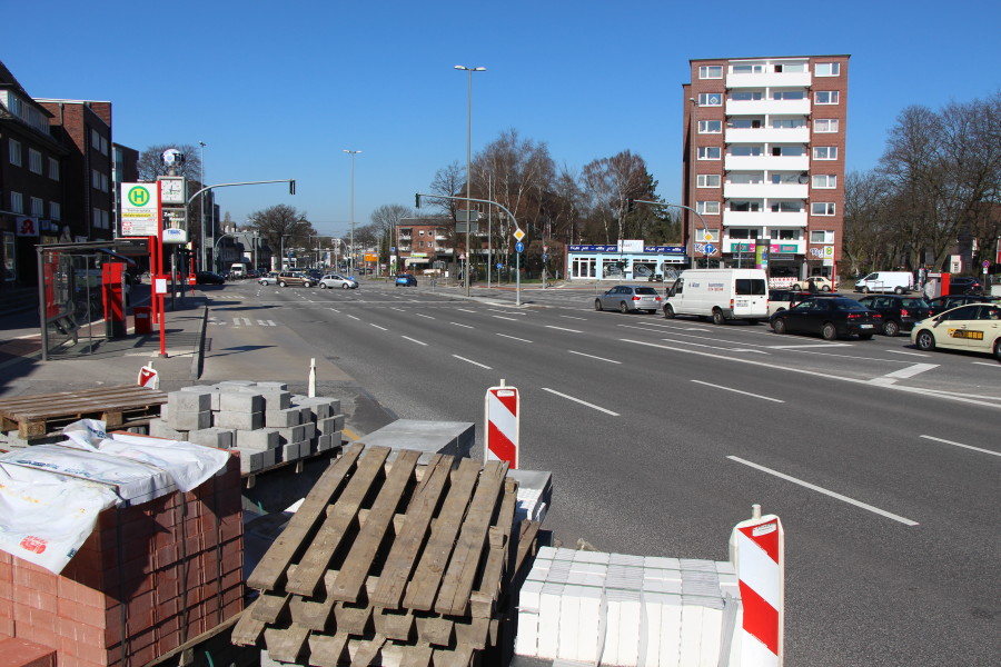 Umbauarbeiten am Siemersplatz. Foto: Ada von der Decken