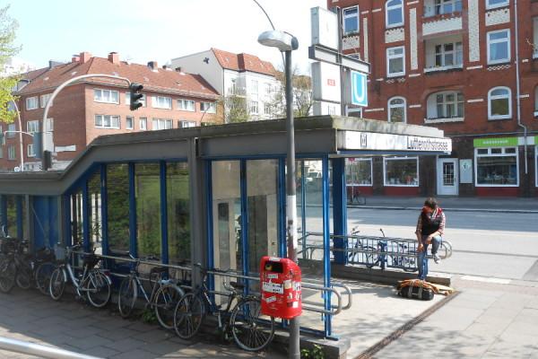 U-Bahn Lutterothstraße. Foto: Anja von Bihl