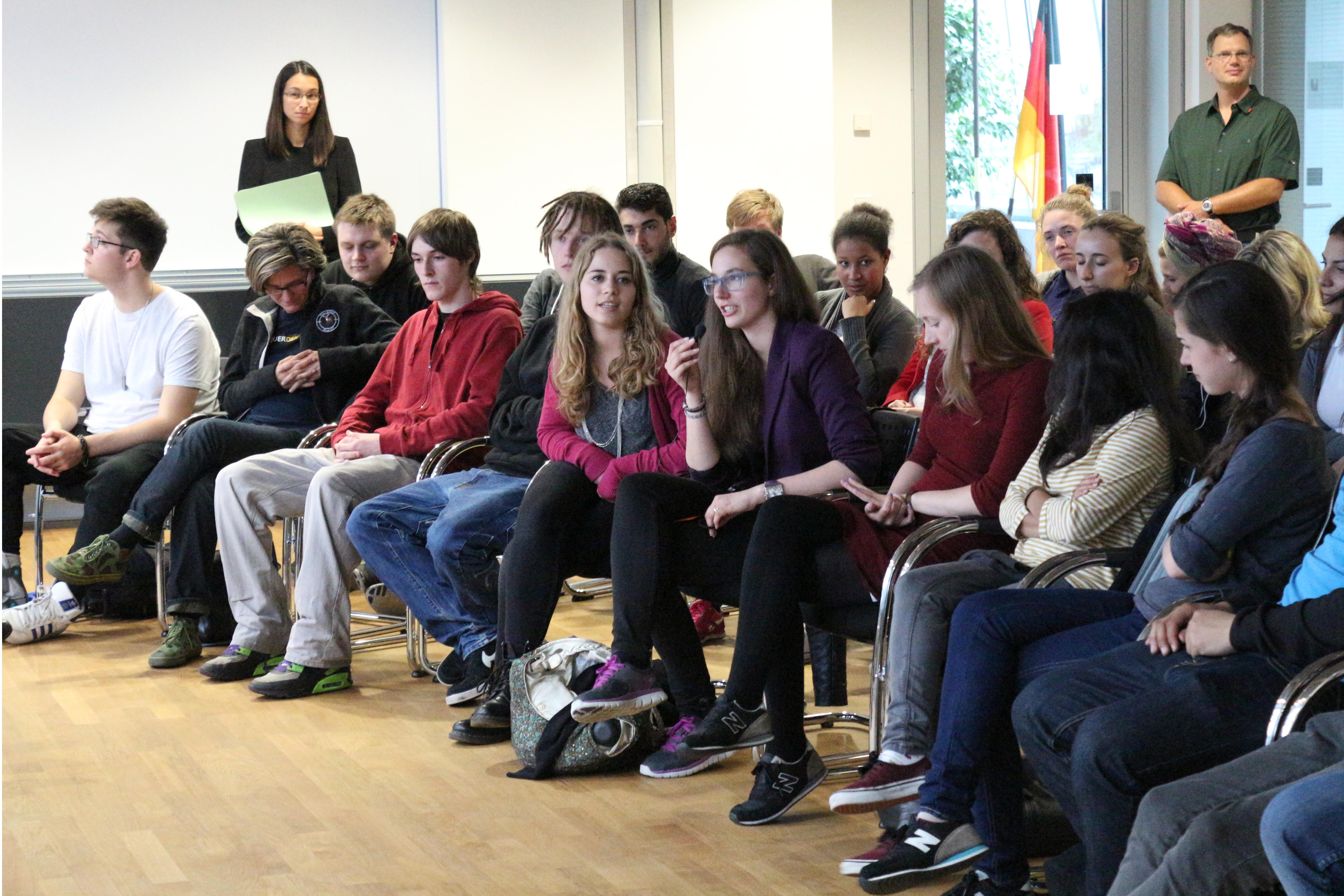 Eimsbütteler Schüler zu Besuch im Bundesjustizministerium. Foto: BMJV