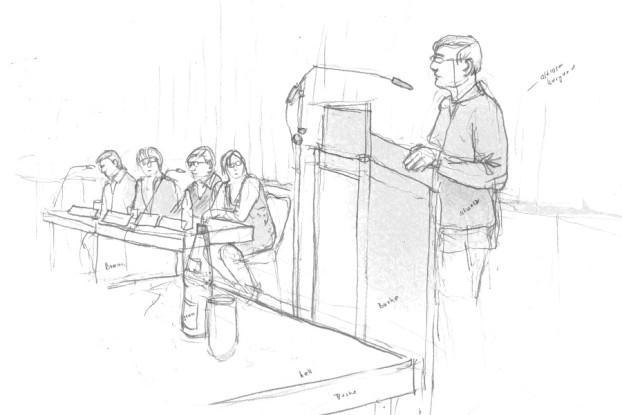 Bezirksversammlung Eimsbüttel, 22. Mai 2014, Zeichnung: Christine Klein