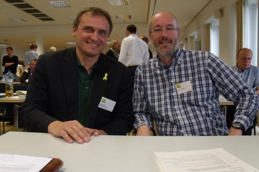 Burkhardt Müller-Sönksen und Lutz Schmidt möchten für die FDP eine Fraktion bilden. Foto: Neele Wulff