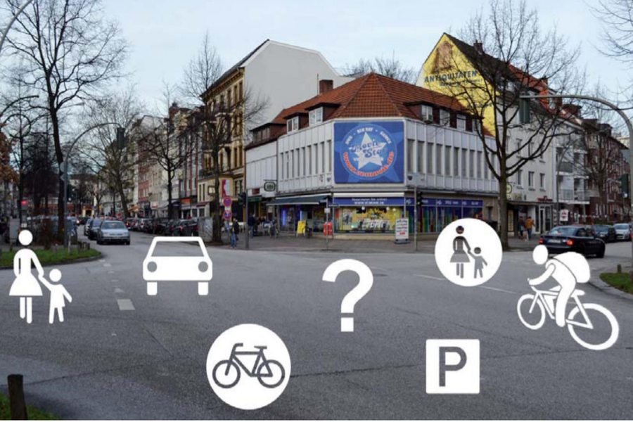 Jeder will auf die Osterstraße - nur wie? Foto: BA Eimsbüttel resp. SBI/ ARGUS/ KfP.