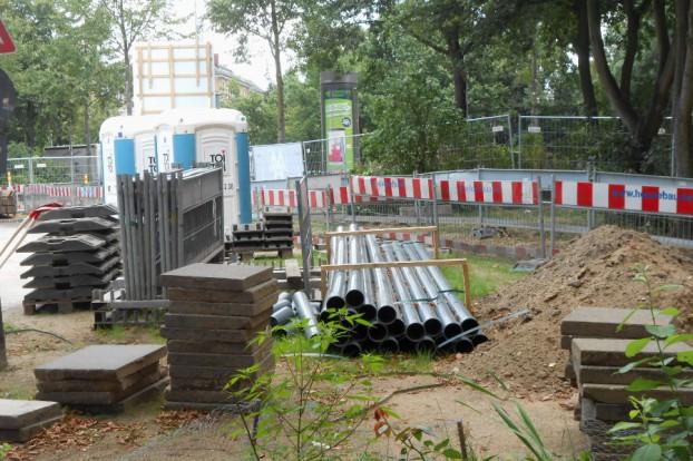 Baustelle Rellinger Straße Ecke Faberstraße. Foto: Anja von Bihl