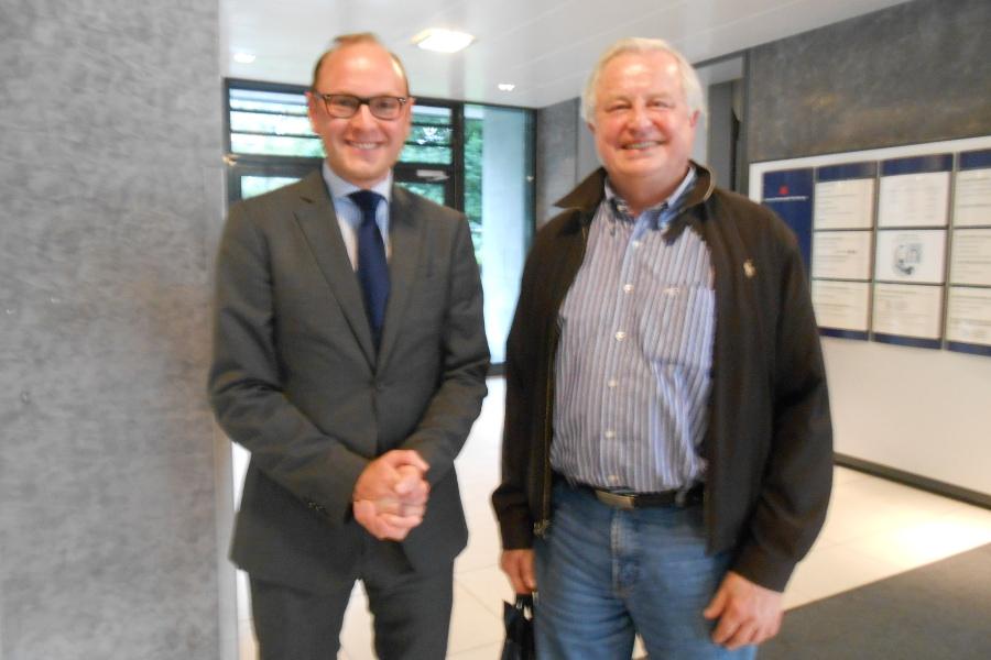 Michael Westenberger, CDU, und Andreas Böhle. Foto: Anja von Bihl
