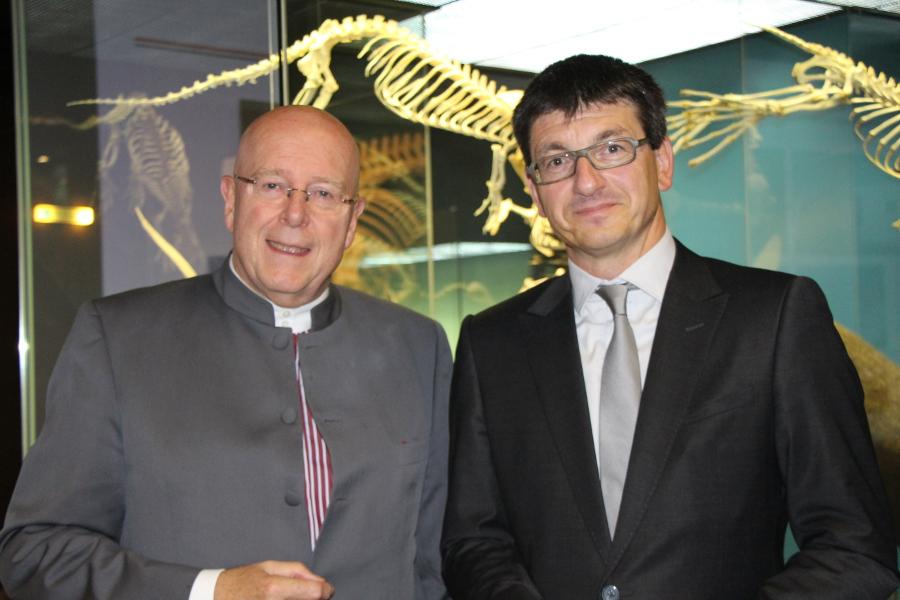 Dieter Lenzen und Matthias Glaubrecht. Foto: Lisa Eißfeldt
