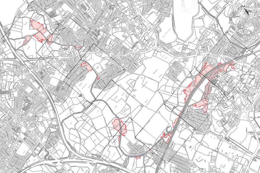 Übersichtsplan für das Überschwemmungsgebiet der Kollau. Quelle: BSU