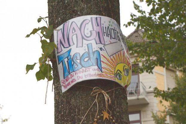 """Der """"Nachtisch"""" steht für Nachhaltigkeit. Foto: Annika Demgen"""