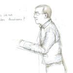 Bezirksversammlung, 18.12.2014, Zeichnung: Christine Klein