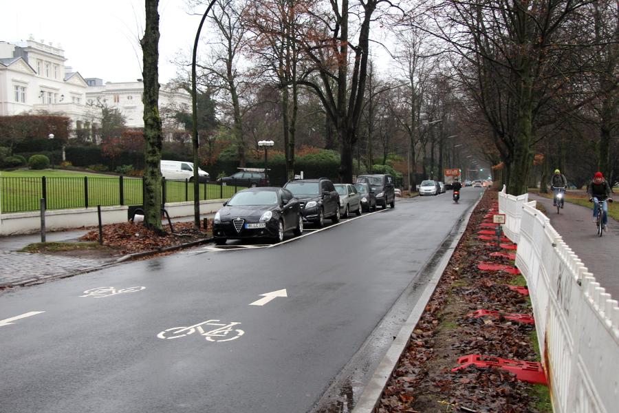 Fahrradstraße. Foto: Lisa Eißfeldt