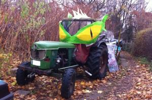 Drachen-Traktor. Foto: Tanja Schreiner