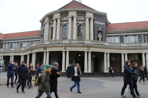 Hauptgebäude der Universität Hamburg. Foto: Katharina Kuhn