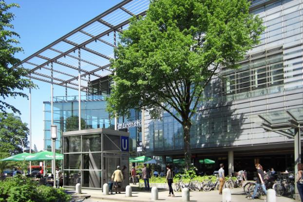 Geplanter Fahrstuhl am U-Bahnhof Hallerstraße. Quelle: Hochbahn