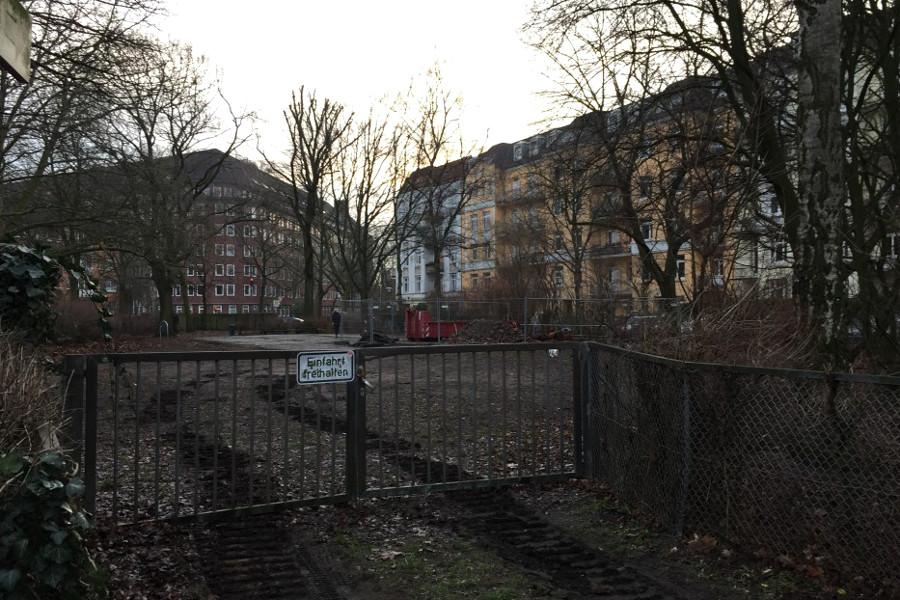 Hundeauslauffläche Eidelstedter Weg. Foto: Marius Schmeding