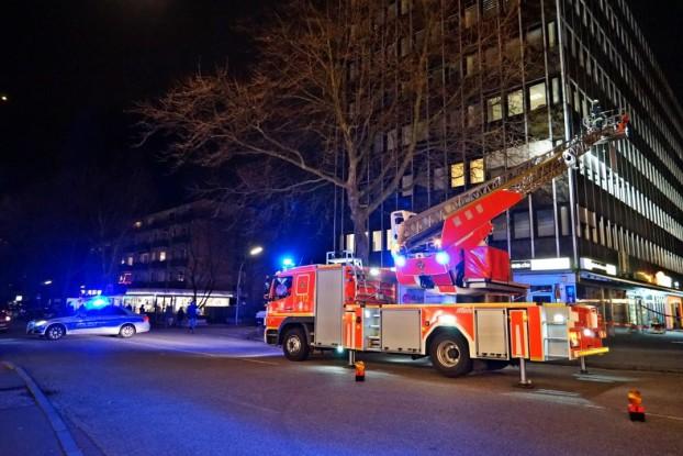 Feuerwehreinsatz im Heußweg. Foto: Malte Klauck