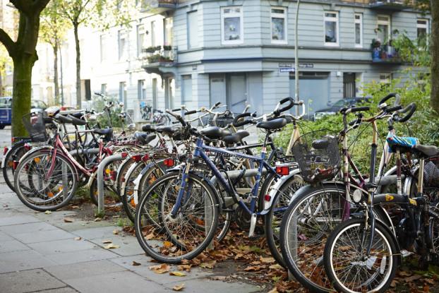 Aber viele Fahrräder entkommen der Stadtreinigung... Symbolfoto: Christoph Höhmann