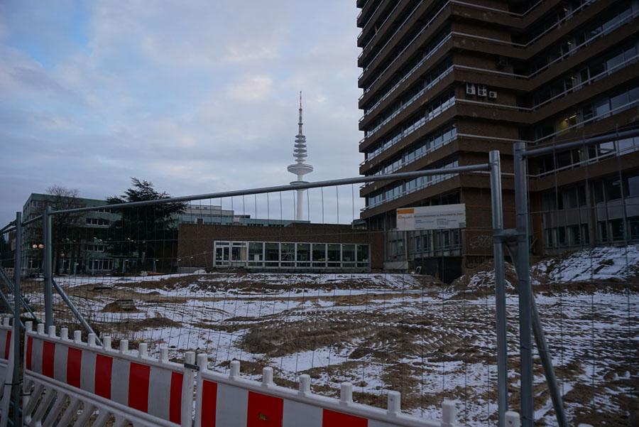 Campus Bundesstraße - Baustelle am Geomatikum