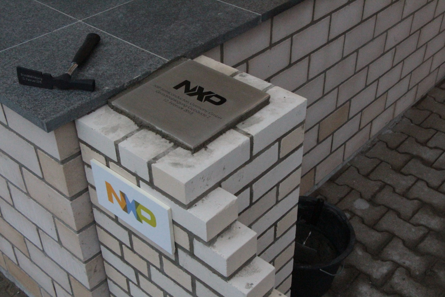 NXP Grundsteinlegung. Foto: Jan Hildebrandt