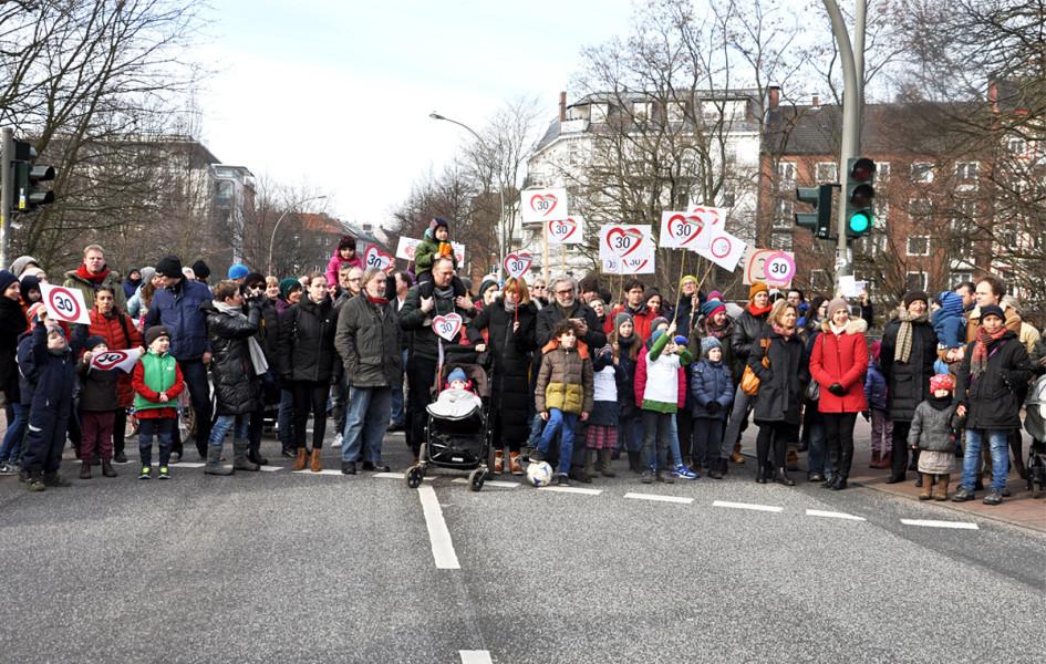 Die Initiative 30 Zone Bundesstraße hat ihr Ziel erreicht. Foto: Elena Salerno