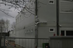 Unterbringungs-Container in Niendorf. Symbolfoto: Anja von Bihl