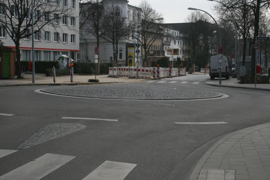 Kreisel Grindelhof. Foto: Anja von Bihl