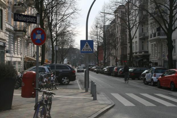 Grindelhof/Hallerplatz. Foto: Anja von Bihl