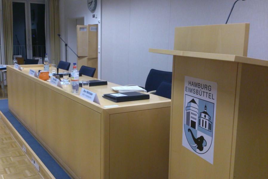Bezirksversammlung Eimsbüttel tagt monatlich im Bezirksamt. Foto: Annika Demgen