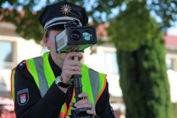 Blitzmarathon-Kontrollstelle. Foto: Polizei Hamburg