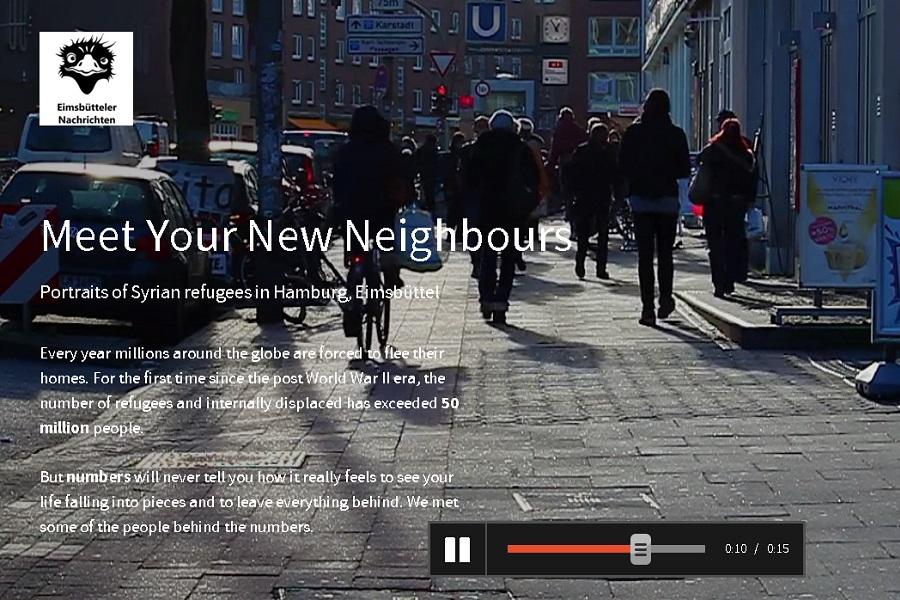 Unsere Pageflow-Reportage gibt es auf Deutsch und auf Englisch. Foto: Screenshot