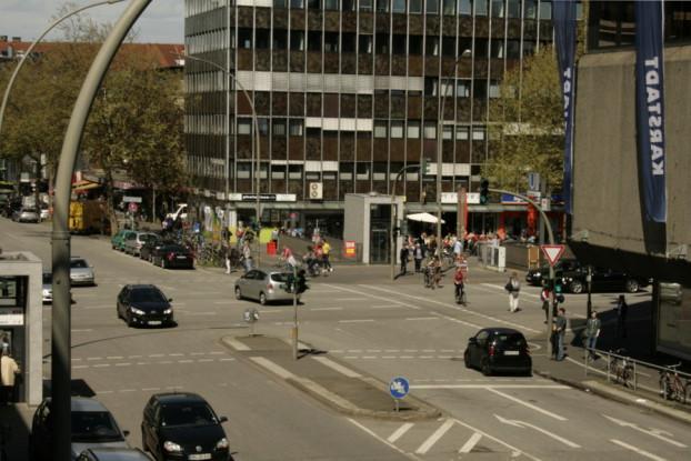 Kreuzung Osterstraße und Heussweg.