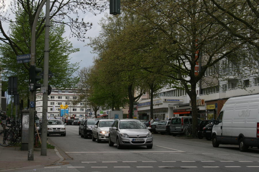 An der Emilienstraße beginnt der Umbau. Foto: Anja von Bihl