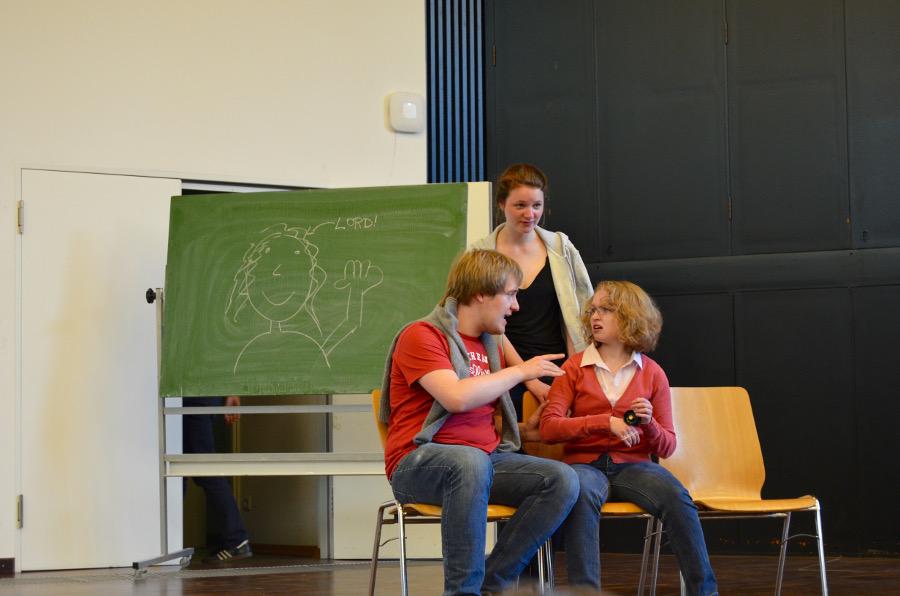 """Das neu gegründete Kalliope Universitätstheater probt """"Der Widerspenstigen Zähmung"""". Foto: Olivia Klieber"""