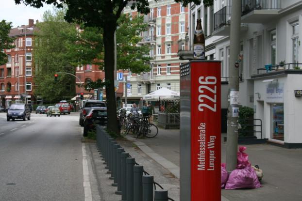 Stadtradstation Methfesselstraße.,Sonntag, alle ausgeflogen. Foto: Anja von Bihl