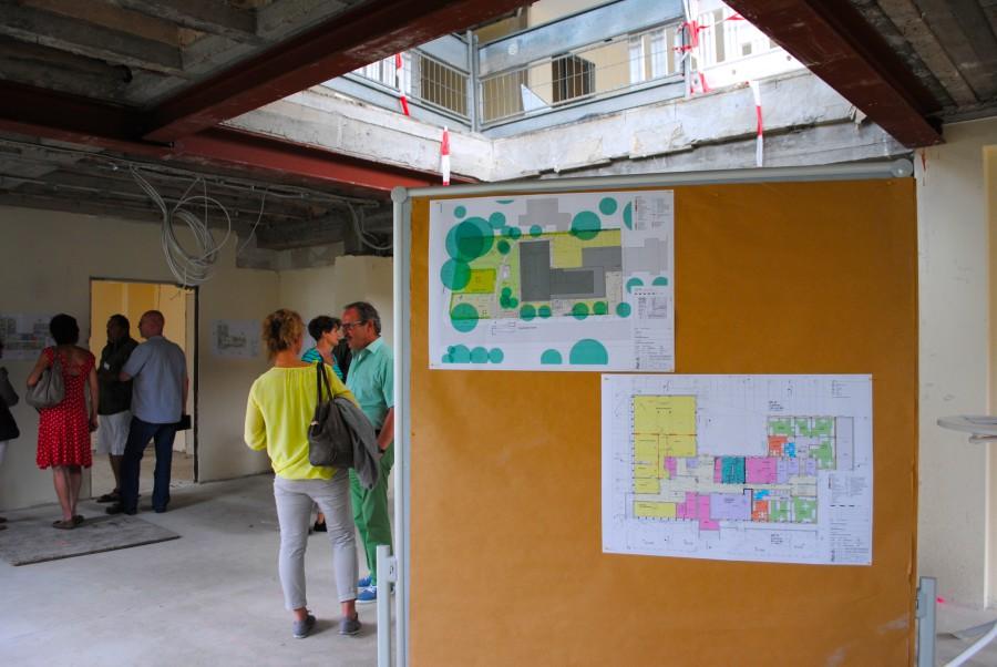 Das Gebäude des ehemaligen Kreiswehrersatzamtes konnte von der Öffentlichkeit besucht werden. In den Räumen waren die aktuellen Baupläne ausgestellt.