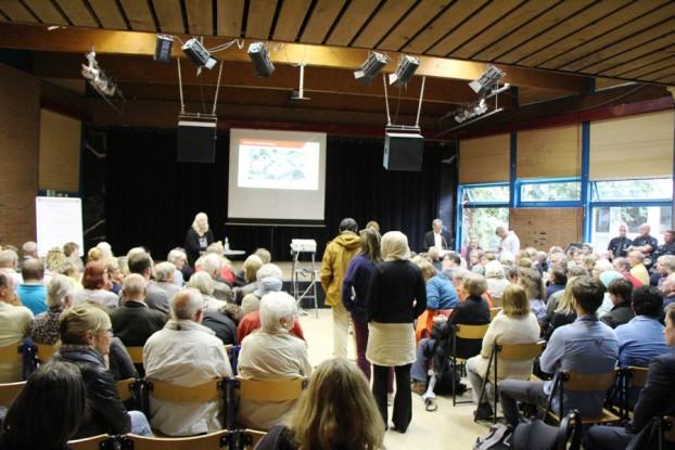 Großer Andrang bei der Infoveranstaltung in Stellingen. Foto: Lukas Gilbert