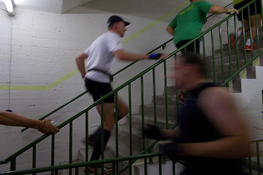 So schnell waren die Läufer im Bunker unterwegs. Foto: Lena Jürgens