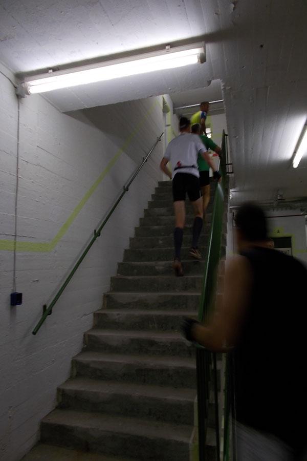 Die vielen Treppen forderten die Läufer besonders heraus. Foto: Lena Jürgens