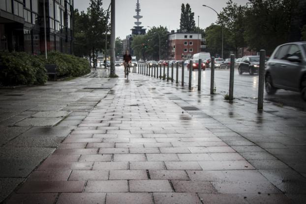 Die Verkehrsbehörde stellt den Radverkehr-Fortschrittsbericht vor. Symbolfoto: Robert Becker.